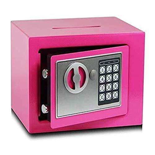 ZBM - ZBM Startseite Safe Digitale Mini Sicher Ändern Lagerung Kennwortsperre Münze Sicher Form Tresor Kinder Unterhaltung Spielzeug - 17 × 17 × 23cm Schlüsselkasten (Color : Pink)