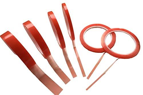Doppelseitiges Klebeband – 0.2mm Acryl Kleber Dünn – extra stark haftend/klebend – Doppel-Band Sticky Tape Durchsichtig 3mm 5mm 7mm 10mm 15mm 20mm – 10Meter oder 20Meter (5mm x 10Meter)