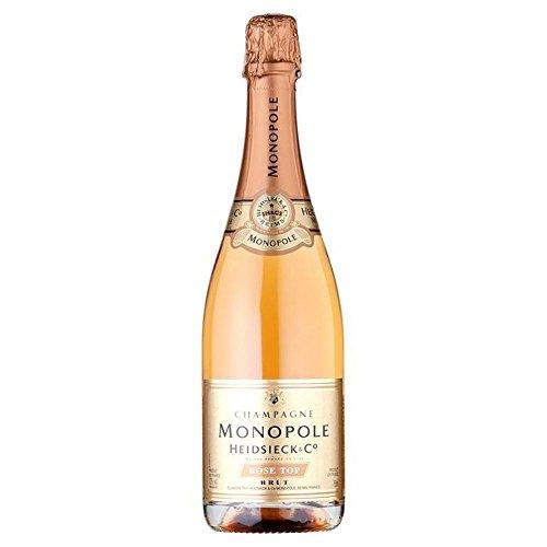 Monopolios Heidsieck Rose Top Brut Champagne, paquete de 6 (6 x 0,75 l)