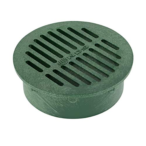 NDS 50 6' Round Grate, Green Fits Spee-D Catch Basin 6 in. Drain Pipes & Fittings, 6'