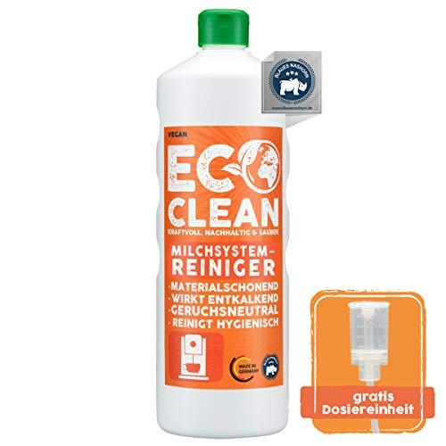 Eco Clean® Milchsystemreiniger 1L - hochwirksamer Milchreiniger Kaffeevollautomat - materialschonend - zuverlässiger Milchschaumreiniger - Made in Germany