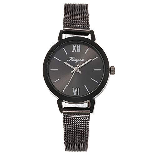 TWISFER Damen Mädchen Armbanduhr, Analog Quarz, Exquisit Elegant Mesh Edelstahl Armband Uhr mit Römische Ziffern Zifferblatt