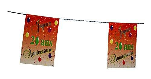 Guirlande Joyeux Anniversaire pour vos 20 ans 8 Pavillons decoration anniversaire jubilé