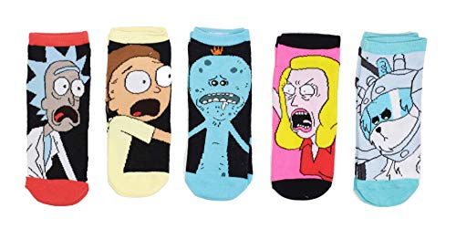 Rick and Morty Mr. Meseeks Snuffle 5 Pack Ankle Socks,Multi Colored,Adult
