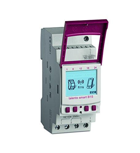 GRÄSSLIN talento smart B15 - 43.02.0001.1 - horloge digitale modulaire interface Bluetooth pour transfert de donnée sans contact - fonctions standards - 1 canal - rail DIN