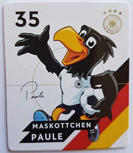 Rewe EM 2020 DFB - Sammelkarten - Normale - Nr. 35 - Maskottchen Paule - Plus 1 spezielle toysagent Sonderkarte