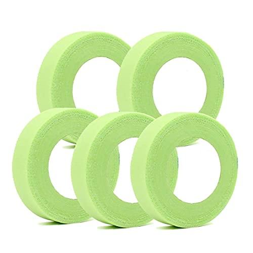 Cil Extension Ruban adhésif non tissé Wrap Cils Rubans adhésifs respirant 5PCS vert, bande cil