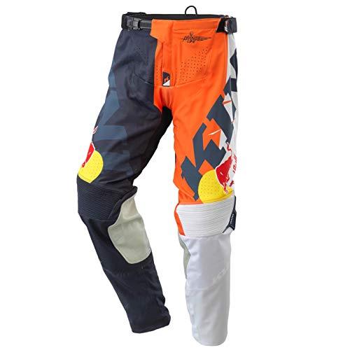 Kini Red Bull Competition Pants V2.1 - Orange/White/Anthrazite - XXL – Motorcross Hose für Herren, auch für Enduro, FMX, Downhill BMX, effiziente Passform, Quattro-Stretch, Air Mesh & TPR, Verstärkt