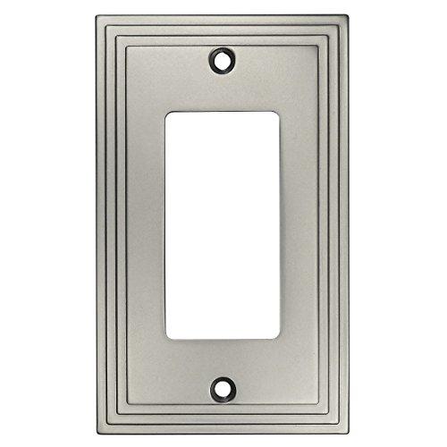 Cosmas 25000-SN Satin Nickel Single GFI/Decora Rocker Wall Switch Plate Switchplate Cover