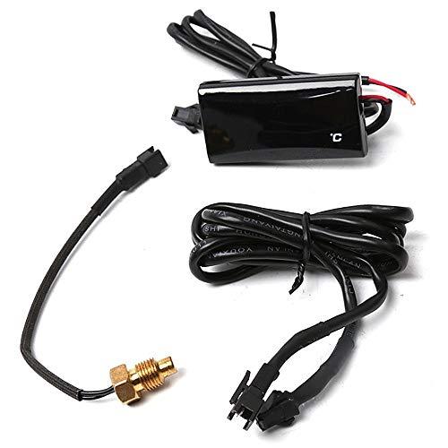Medidor de Termómetro Digital de Motocicleta, Termómetro Digital universal para Motocicleta Medidor de Temperatura del agua Indicador de luz azul
