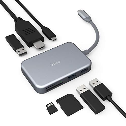 iHaper C003 Hub USB C 7 10,35€! ✂️ Con coupon: Z4YO55LA