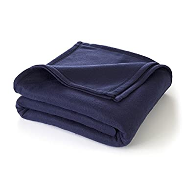 Martex Super Soft Fleece Blanket - King, Warm, Lightweight, Pet-Friendly, Throw for Home Bed, Sofa & Dorm - Navy