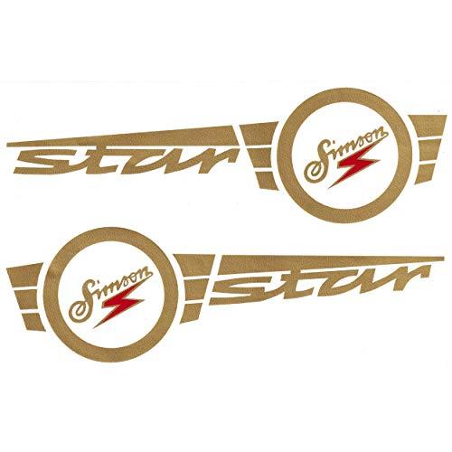 Klebefolie Simson Star SET rechts und links