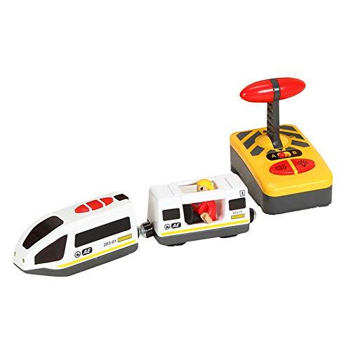 LICHENGTAI Juguete Educativo de Tren de Control Remoto Eléctrico para Niños, Tren...