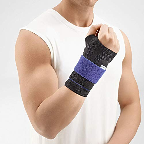 Bauerfeind - ManuTrain - Wrist Support - Relieves Strain and Stabilized During Movement - Right Wrist - Size 5 - Color Black