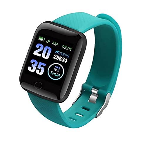 FeelMeet Pulsera Inteligente Inteligente Reloj Bluetooth 116Plus móvil Reloj de la Aptitud Hombres y Mujeres Verde Impermeable Prueba de presión Arterial