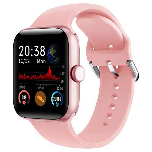 LIFEBEE Smartwatch, Fitness Armband Touchscreen IP68 Wasserdicht Fitness Tracker Smart Watch Fitness Uhr Sportuhr Blutdruckmessung Schrittzähler Schlafmonitor Damen Herren Pulsuhren für Android iOS