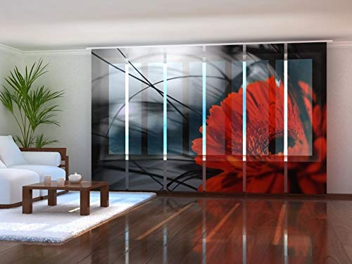 Wellmira - Tenda a Pannello con Stampa Fotografica su Misura, Motivo Decorativo, 6X 175x50 cm