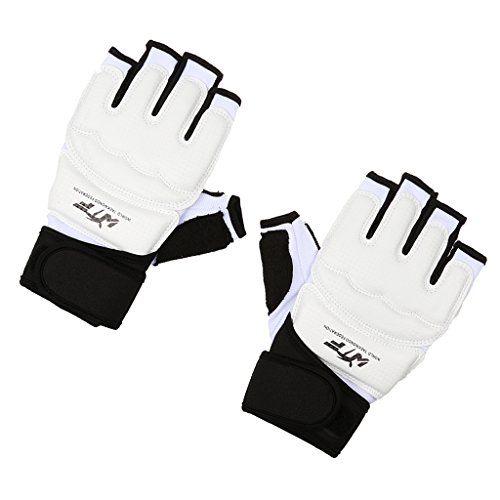 Milageto Guantes de Boxeo de Medio Dedo MMA Sandbag Fighting Sparring Gloves...