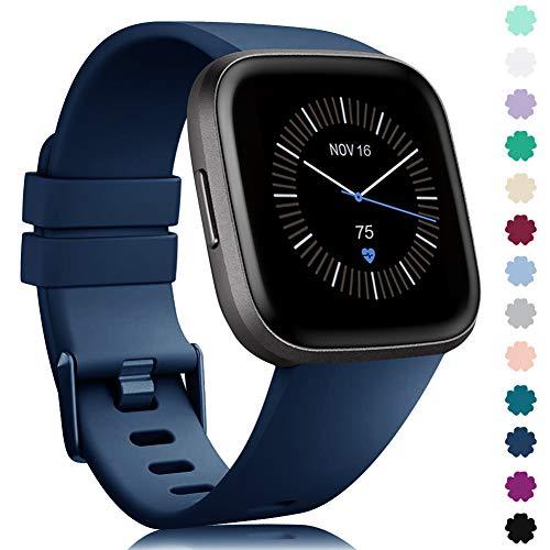 Onedream Pulsera Compatible con Fitbit Versa Correa/Versa Lite/Versa 2 Correa Silicona Mujer Hombre, Ajustable Deportivo Pulsera de Reemplazo Compatible para Fitbit Versa 2 SE (Sin Reloj)