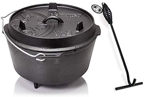 Petromax Feuertopf ft9 (Dutch Oven mit Standfüßen) inkl. Deckelheber