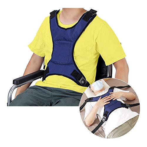 Wheelchair Seat Belt Bed Restraints Safety for Elderly Wheelchair Harness Adult Seatbelt Medical Hospital Straps Vest Soft Chest Lap Buddy Chairs Seniors Disable Patients Prevent Sliding