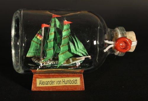 Alexander von Humboldt Mini Buddelschiff 50 ml ca. 7,2 x 4,5 cm Flaschenschiff