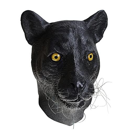 WWWL Mscara de Halloween, Disfraz de Mscara Cosplay Realista (Color : Black, Size : M)