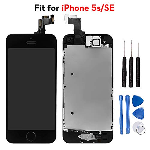for iPhone 5s/ iPhone SE Digitizer Screen Replacement Black - Ayake 4