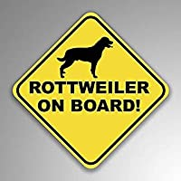 JMM Industries Rottweiler On Board Vinyl Decal Sticker Car Window Bumper 2-Pack 4-Inches by 4-Inches Premium Quality UV Protective Laminate PDS1256 [並行輸入品]
