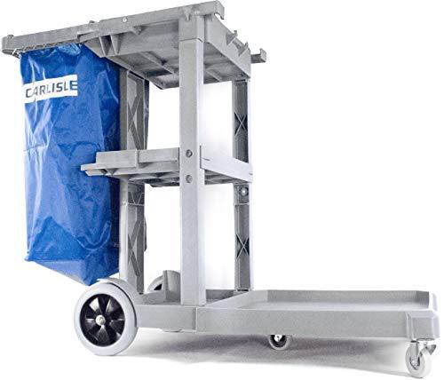 Carlisle Polyethylene Short Platform Janitorial Cart, 300 lbs Capacity