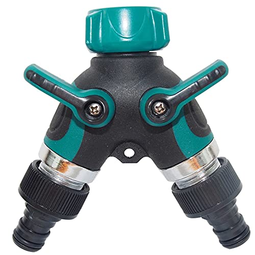 JQDMBH Grifos para Equipo de riego 1 PC Splitter Agricultura Tanque de Agua Accesorios Válvula Válvula de Hilo estándar Conector de Manguera