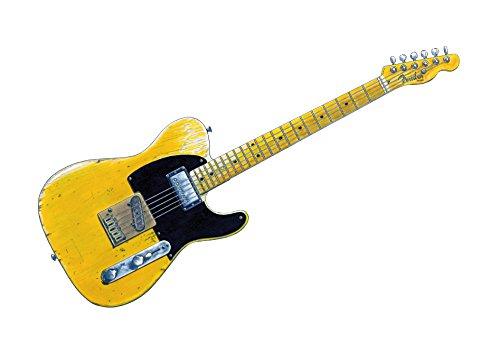 George Morgan Illustration Keith Richards Fender Telecaster 'Micawber' Gitarre Poster Print A1 Größe