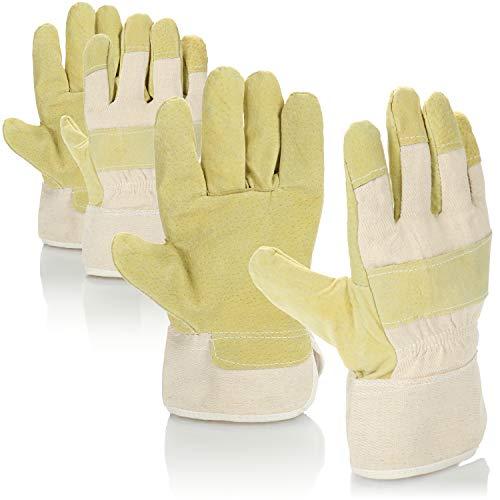 com-four® 2 Paar Arbeitshandschuhe - Gartenhandschuhe in Einheitsgröße, Schutzhandschuhe der Kategorie I - ideal für Gartenarbeit & Renovierungen