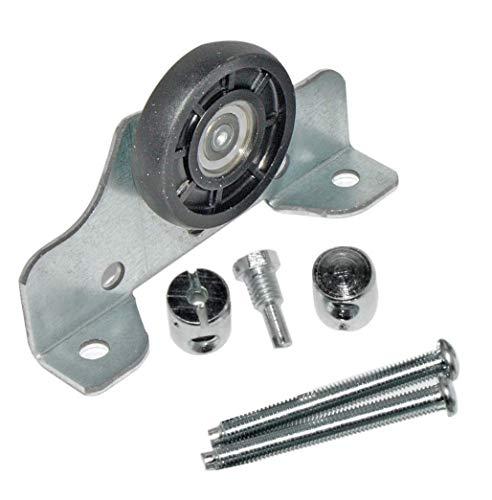 HKB ® 1 Stück Laufteil, Metall verzinkt, Kunststoffrollen, ø = 35mm, Tragkraft 25kg, inklusive Schrauben, Hersteller HKB, Artikel-Nr. 50197