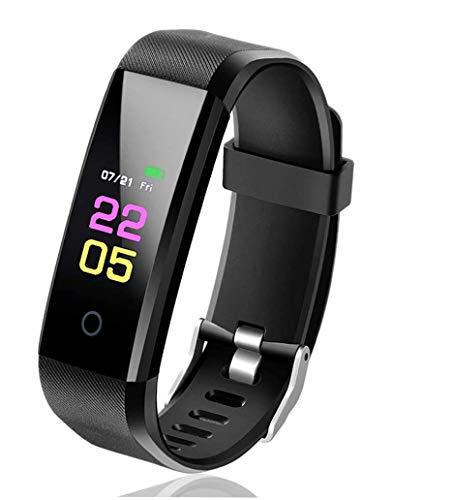 BHJ Activity Tracker Smartwatch Donna Uomo, Orologio Fitness Cardiofrequenzimetro Contapassi da Polso Monitor Pressione Sanguigna Whatsapp Notifiche per Android i-OS Telefono