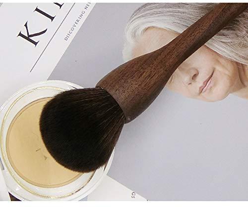 Empfohlene schwarze Walnuss Holz Eichhörnchen Faser Haar Puderpinsel Blush Pinsel Hochglanz Pinsel...