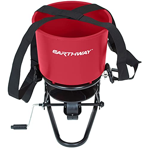 EarthWay 3100 Professional 40 LB Portable Chest Mount Hand Crank Broadcast Spreader Including Even Spread Technology, Comfortable & Adjustable Harness Strap and Rain Cover