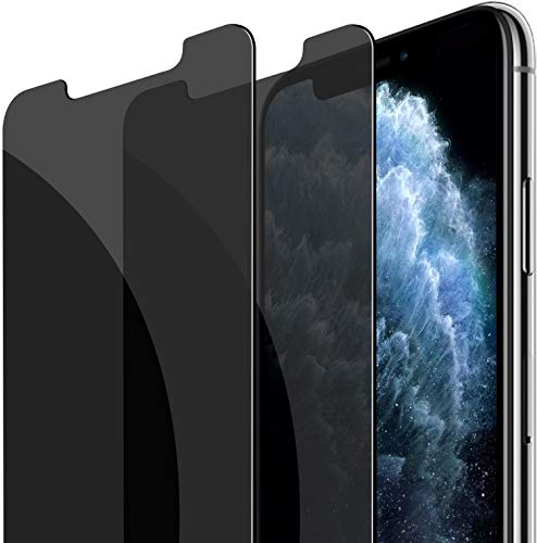 Fotbor for iPhone Xs Max/iPhone 11 Pro Max Privacy Screen Protector, 2 Pack iPhone Xs Max Screen Protector/iPhone 11 Pro Max Screen Portector 6.5 Inch 9H Hardness Tempered Glass Anti Spy Case Friendly
