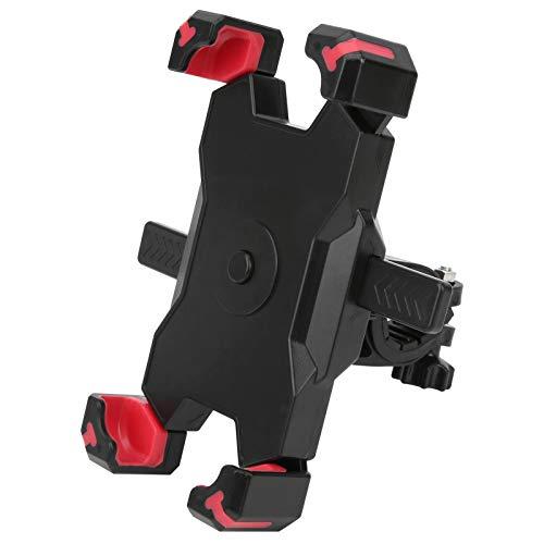 Shipenophy Soporte de teléfono para Bicicleta extraíble Accesorios para Bicicletas(Red)