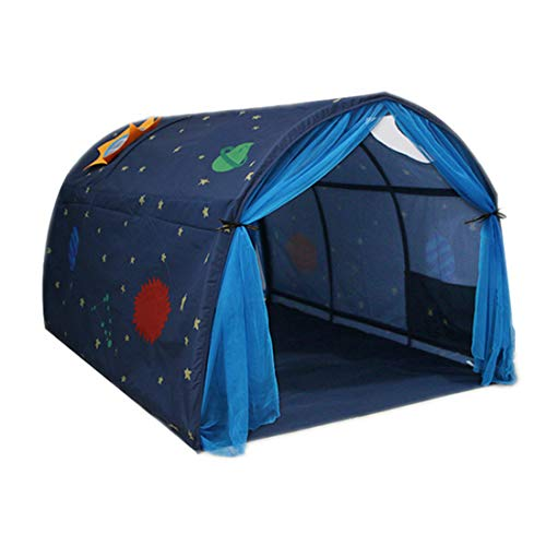 GJQION Home Children's Bed Tent Kids Magic Game House Baby Boy Girl Safe Tunnel Wigwam Bedroom Festival Decoration,14X10x8cm,Blue