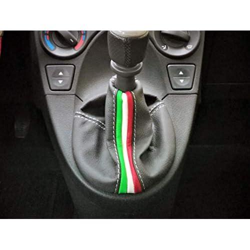cuffia cambio compatibile con Fiat Panda (2003-2011) in vera pelle antracite e tricolore