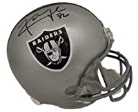 Khalil Mack Autographed Oakland Raiders Replica Helmet JSA 12092 - Autographed NFL Helmets