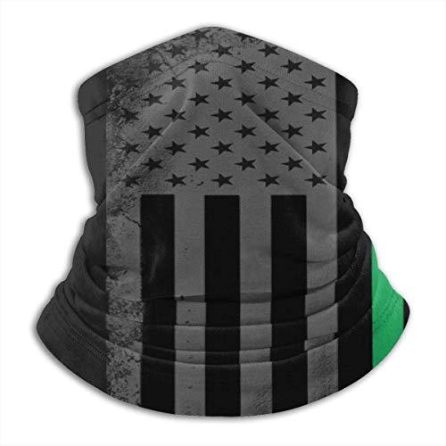 Randy-Shop Amerikaanse vlag met groene en rode nekwarmer-huid-frindly halsmanchet
