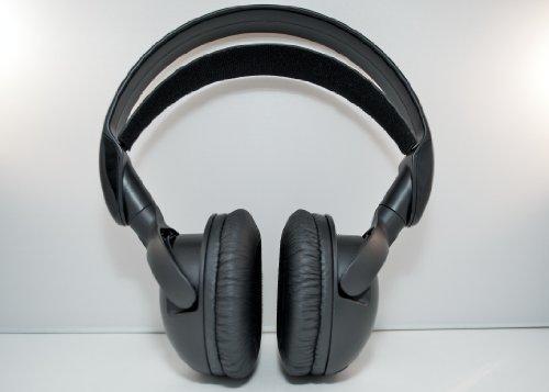 Wireless DVD Headphones Premium Headset for Toyota Sequoia (Black)