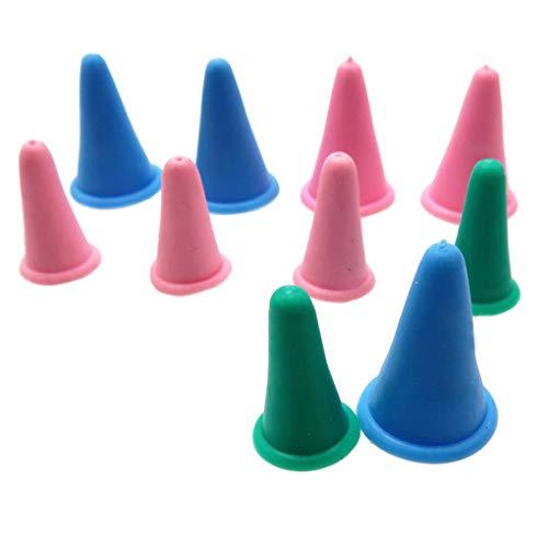 Yujum 20 Stück Stricknadeln Point Protectors Silikon-Nadelstopper, Quiltnadel-Stopper, Nähen Stricknadelspitzenabdeckungen Nähen von Quilting-Stoppern Zufällige Farbe
