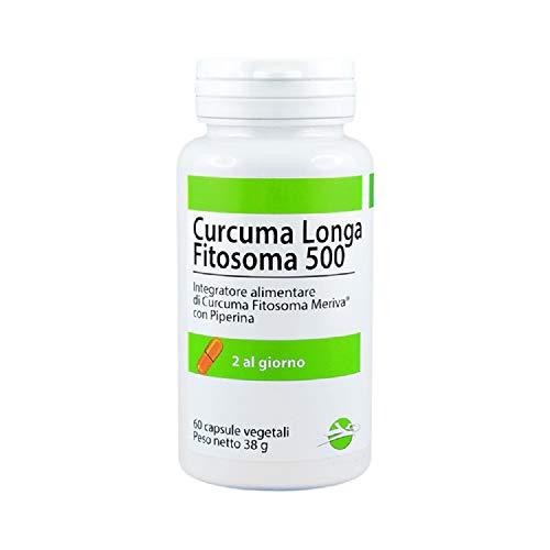CURCUMA FITOSOMA 500 - Integratore alimentare di Curcuma Fitosoma Meriva® con Piperina, 500mg di curcumina per capsula - 60 capsule vegetali