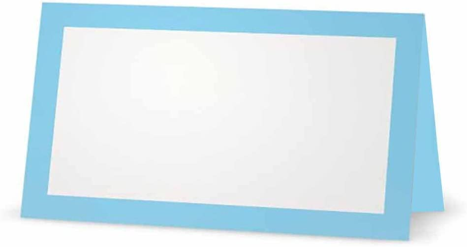 Light Under Today's only blast sales Blue Place Cards - Flat or Tent Wh 50 Pack 10 Style