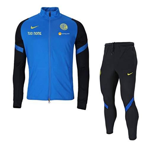 Inter Trainingsanzug mit Kapuze, offizielles F.C, personalisierbar, für Kinder (8 Jahre, L)