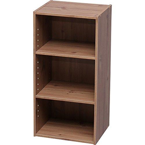 アイリスオーヤマ カラーボックス 収納ボックス 本棚 2段 可動棚 幅36.6×奥行29×高さ73.2cm ナチュラル モジュールボックス MDB-3K